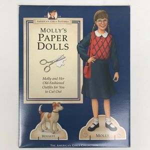 American Girl Other - American Girl Molly Paper Dolls Theater Kit Set